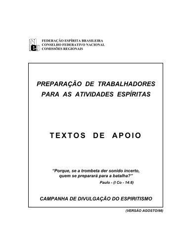 TEXTOS DE APOIO - Autores Espíritas Clássicos