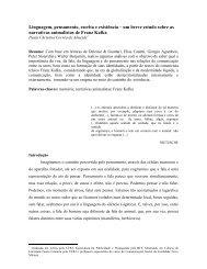 Linguagem, pensamento, escrita e existência - Faculdade Novo ...