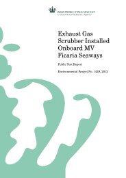 Exhaust Gas Scrubber Installed Onboard MV Ficaria ... - Miljøstyrelsen