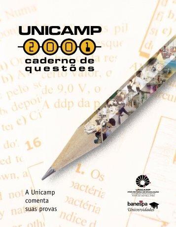 A Unicamp comenta suas provas - Comvest - Unicamp