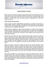 Artigo 3 - Como melhorar a escrita - Estude Idiomas