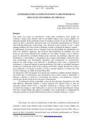 ATIVIDADES LÚDICAS COMO INCENTIVO À CRIATIVIDADE NA ...