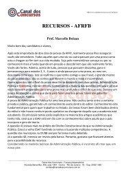 RECURSOS - AFRFB Prof. Marcello Bolzan - Canal dos Concursos
