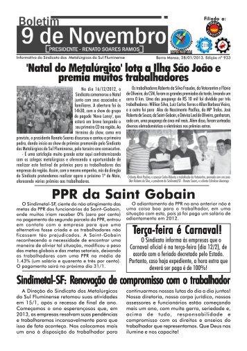 Boletim 933 - BM - Sindicato dos Metalúrgicos da Região Sul ...