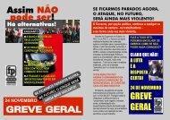GREVE GERAL GREVE GERAL - Sindicato dos Trabalhadores da ...