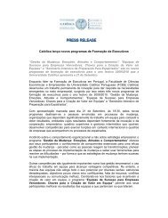 CATÓLICA-LISBON lança novos programas de Formação de ...