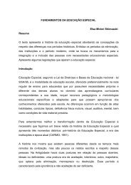 FUNDAMENTOS DA EDUCAÇÃO ESPECIAL - Secretaria de Estado ...