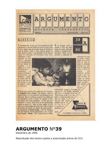 Argumento nº39 - Cine Clube de Viseu