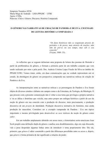 Simpósio Temático ST50 Marta Mega de Andrade - Fazendo ...
