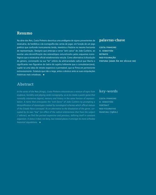 Resumo Abstract - Instituto de História da Arte