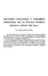 historia colonial y nombres indigenas de la palma pijibay - Instituto ...