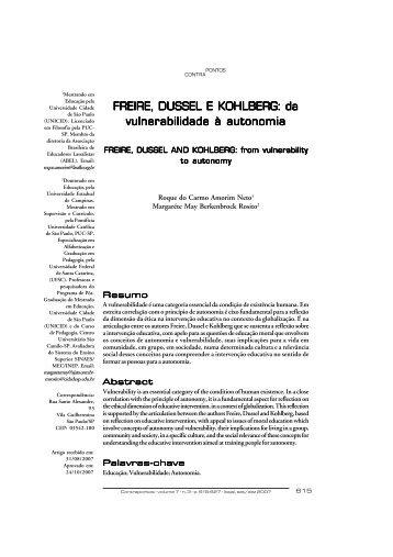 FREIRE, DUSSEL E KOHLBERG - Unicid