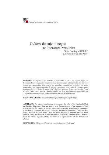 o ethos do sujeito negro na literatura brasileira - fflch - USP