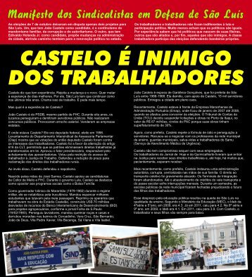 manifesto sindicalistas contra castelo FORMATO 6 - 30X33cm C1