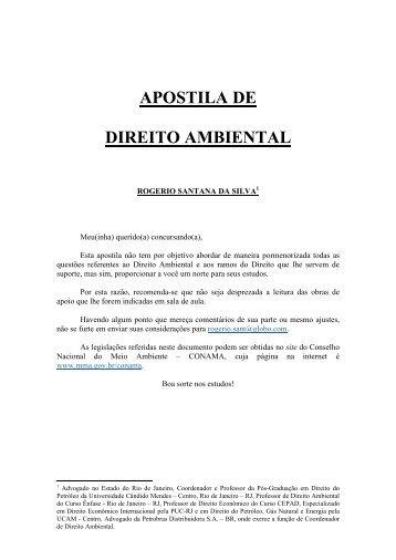 APOSTILA DE DIREITO AMBIENTAL - Jurisite