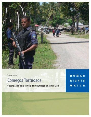Começos Tortuosos - Human Rights Watch
