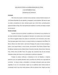 Leia a íntegra do discurso de posse de - IFCS