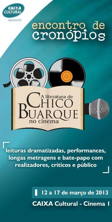 CAIXA Cultural - Cinema 1 - Encontro de Cronópios