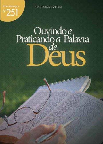 Ouvindo e Praticando a Palavra de Deus - Lagoinha.com