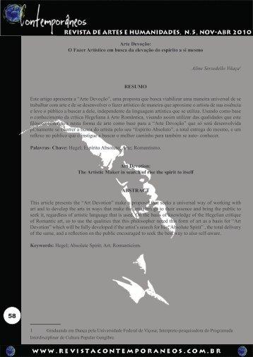 Arte Devoção - Revista Contemporâneos