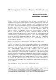 O Brasil e as experiências internacionais de ... - Síntese Eventos