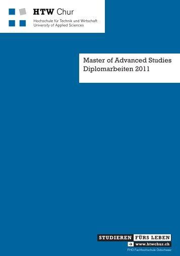 IS / MAS W&CP Diplomarbeiten 2011 - HTW Chur