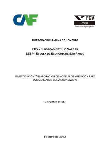 Espanhol CAF traducido_final - Centro de Agronegócio da ...