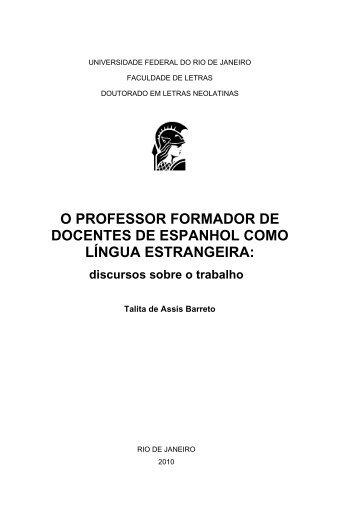 O professor formador de docentes de Espanhol como