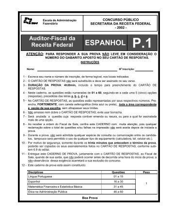 Prova 1-Espanhol - Concursos Públicos