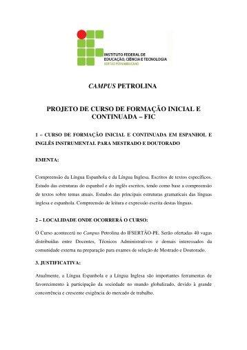 (Projeto FIC ESPANHOL E INGL\312S INSTRUMENTAL)
