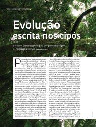 Evolução escrita nos cipós - Revista Pesquisa FAPESP