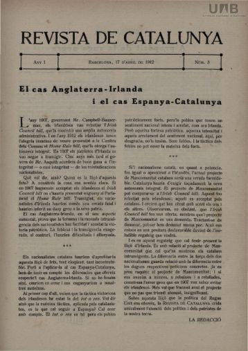 REVISTA DE CATALUNYA - Dipòsit Digital de Documents de la UAB