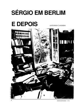 SÉRGIO EM BERLIM E DEPOIS - Revista Novos Estudos