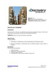 DENTRO DAS PIRÂMIDES - Discovery na Escola
