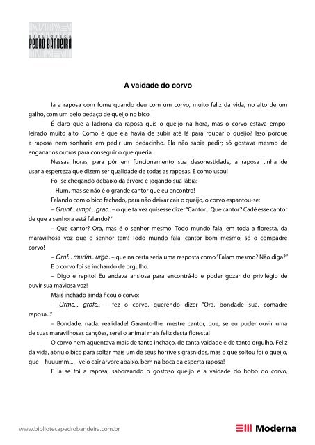 A vaidade do corvo - Pedro Bandeira