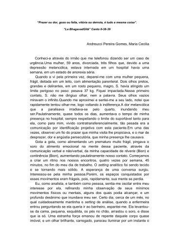 Andreucci Pereira Gomes, Maria Cecilia Conheci-a através do ...