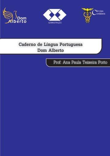 Caderno Lingua Portuguesa - Ana Paula Teixeira - Dom Alberto