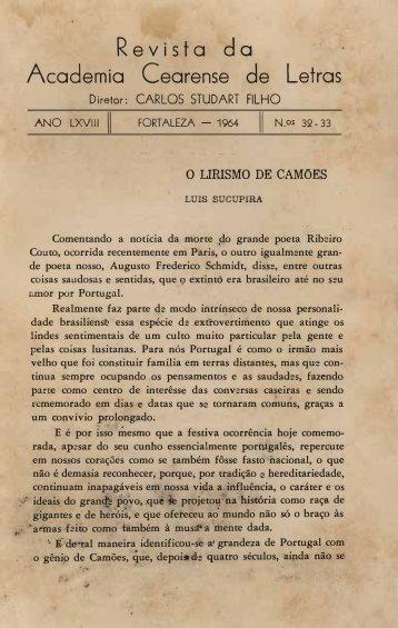 O Lirismo de Camões - Luís Sucupira