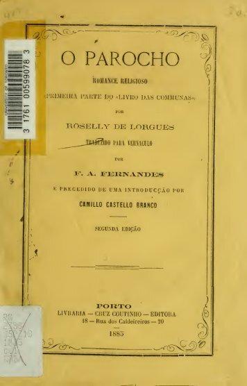 """O parocho : romance religioso (primeira parte do """"Livro das ..."""