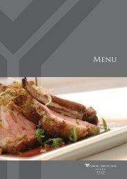 Menu Restaurante A Confraria - York House