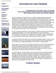 Capivaras do Lago Paranoá - Embrapa Recursos Genéticos e ...