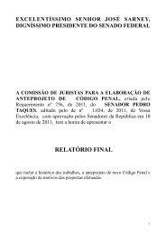 Relatório final dos trabalhos da Comissão de juristas - Instituto ...