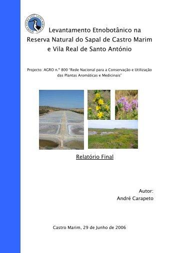 d. Levantamento etnobotânico na Reserva de ... - DRAP Algarve