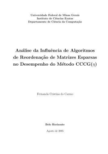 Análise da Influência de Algoritmos de Reordenaç˜ao de Matrizes ...