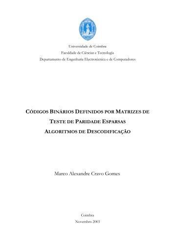 Marco Alexandre Cravo Gomes - DEEC - Universidade de Coimbra