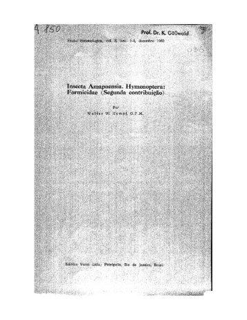 Page 1 Page 2 Studia Ent., vol. 3, fasc. 1-4, dezembro 1960 385 ...