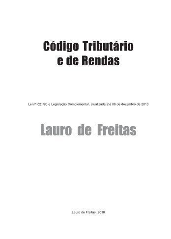 Novo código Tributário - Lauro de Freitas