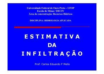 Infiltração - Escola de Minas - Ufop