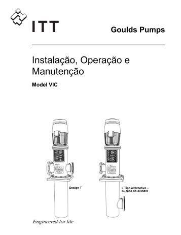 Instalação, Operação e Manutenção - Goulds Pumps