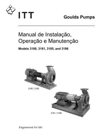 Manual de Instalação, Operação e Manutenção - Goulds Pumps